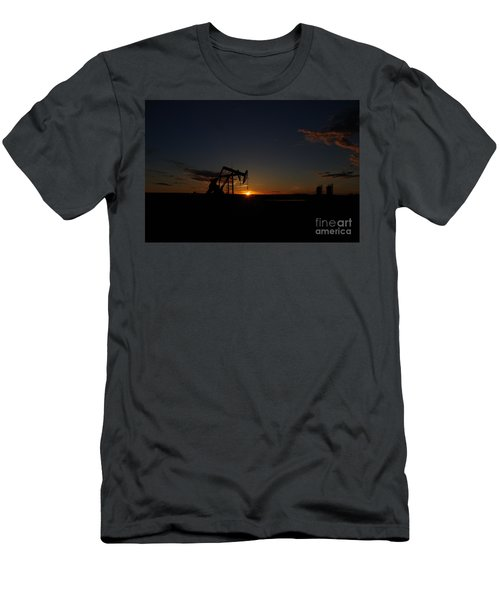 Sunset On Pumpjacks Men's T-Shirt (Athletic Fit)