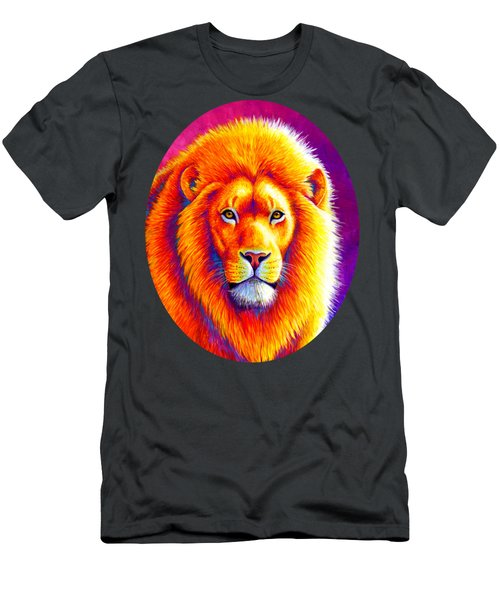 Sunset On The Savanna - African Lion Men's T-Shirt (Athletic Fit)