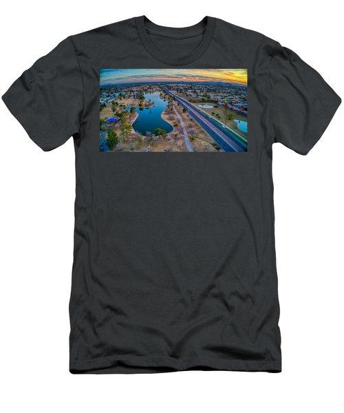 Sunset Over Chaparral  Men's T-Shirt (Athletic Fit)