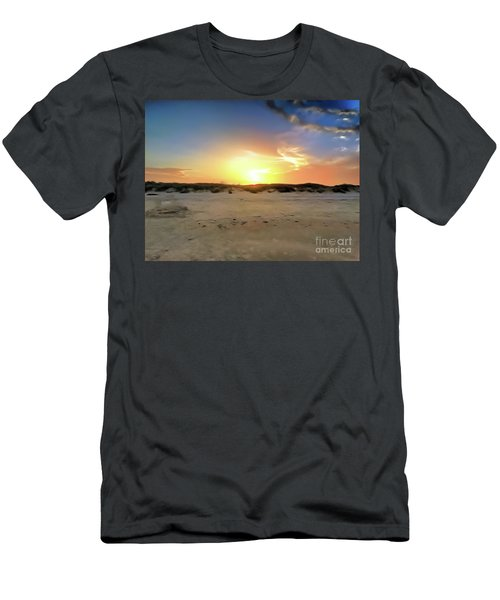 Sunset Over N Padre Island Beach Men's T-Shirt (Athletic Fit)
