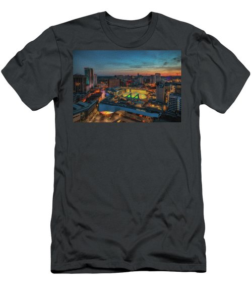 Sunset Over The City Men's T-Shirt (Athletic Fit)
