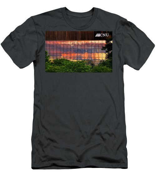 Sunset Reflections On A Wall Of Glass Men's T-Shirt (Athletic Fit)