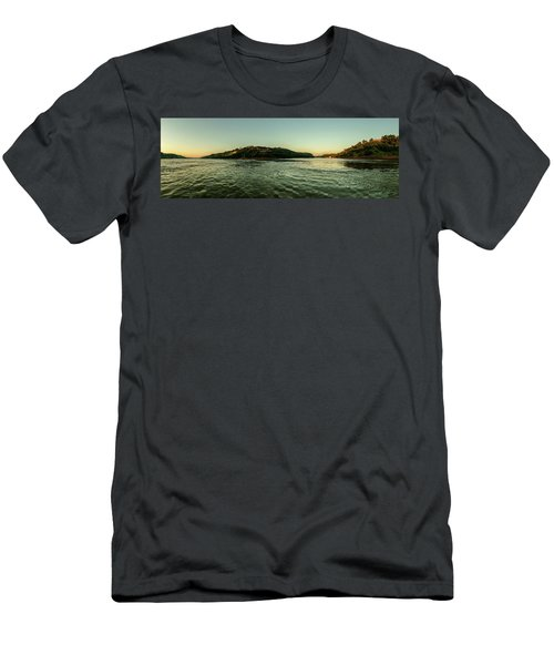 Sunset River Confluence Men's T-Shirt (Athletic Fit)