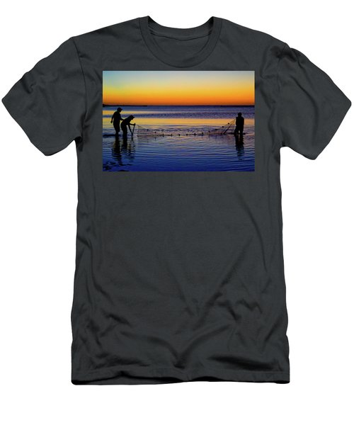 Sunset Seining On Copano Bay Men's T-Shirt (Athletic Fit)