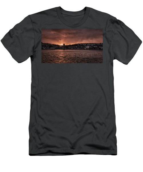 Sunset Harbour Men's T-Shirt (Athletic Fit)