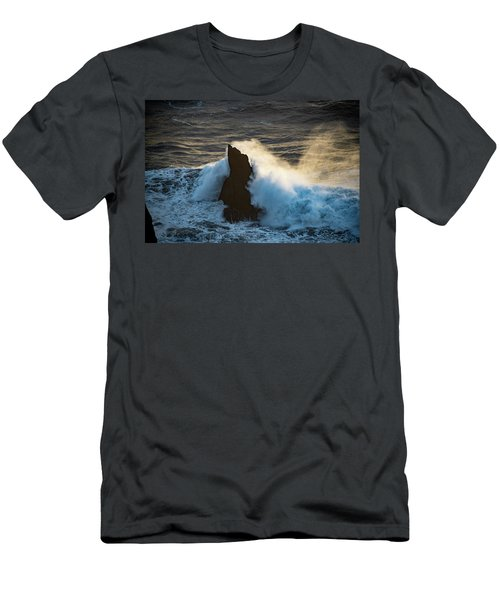 Surf At Sunset Men's T-Shirt (Athletic Fit)