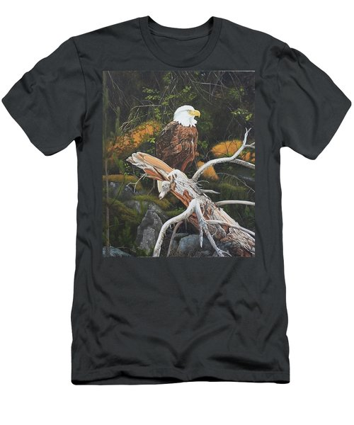 Men's T-Shirt (Athletic Fit) featuring the painting Surveying The Sea by Tammy Taylor