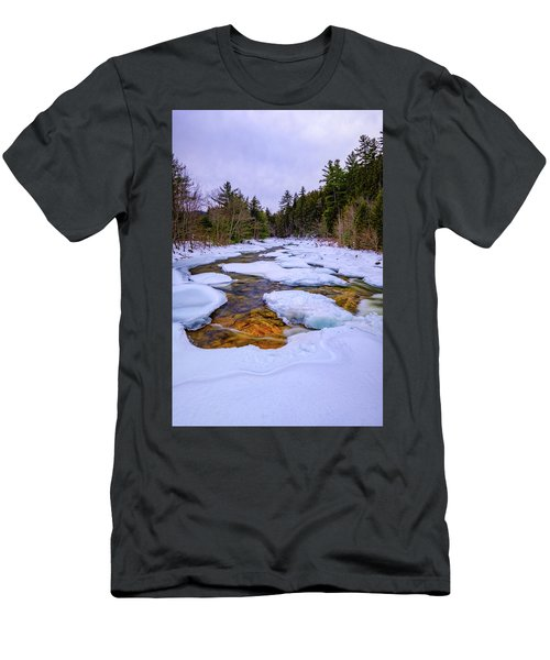 Swift River Winter  Men's T-Shirt (Athletic Fit)