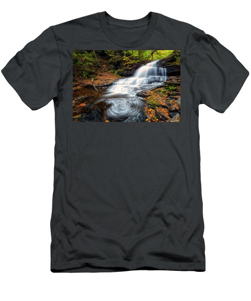 Men's T-Shirt (Athletic Fit) featuring the photograph Swirls by Russell Pugh