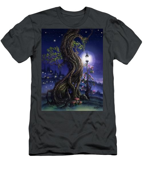 Sylvia And Her Lamp At Dusk Men's T-Shirt (Athletic Fit)