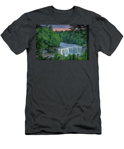 Tahquamenon Falls Sunset. Men's T-Shirt (Athletic Fit)