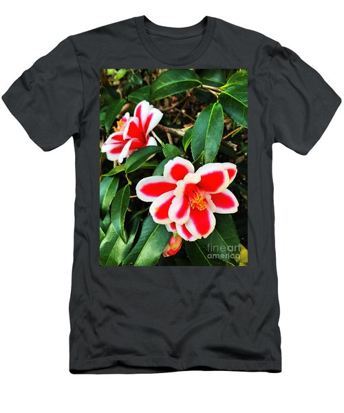 Men's T-Shirt (Athletic Fit) featuring the photograph Tama Peacock Twins by Rick Locke