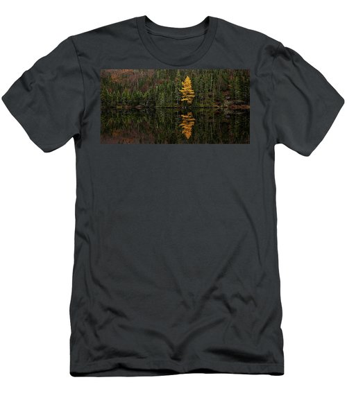 Men's T-Shirt (Athletic Fit) featuring the photograph Tamarack Defiance by Doug Gibbons