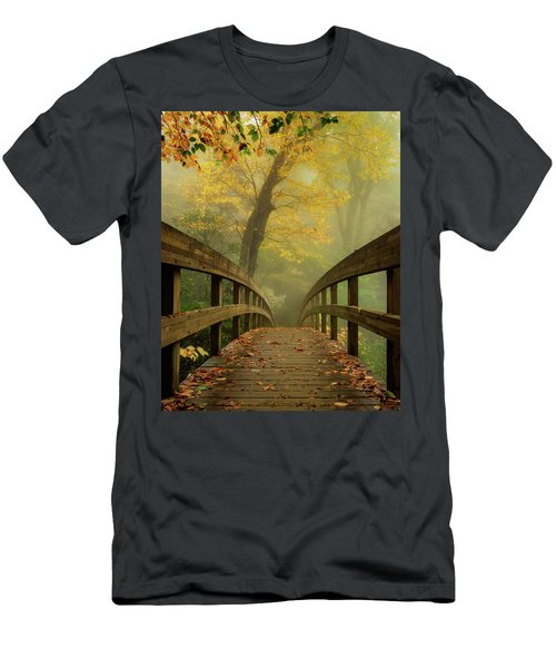 Tanawha Trail Blue Ridge Parkway - Foggy Autumn Men's T-Shirt (Athletic Fit)