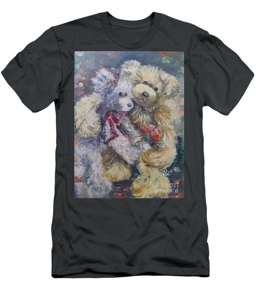 Men's T-Shirt (Athletic Fit) featuring the painting Teddy Bear Honeymooon by Ryn Shell