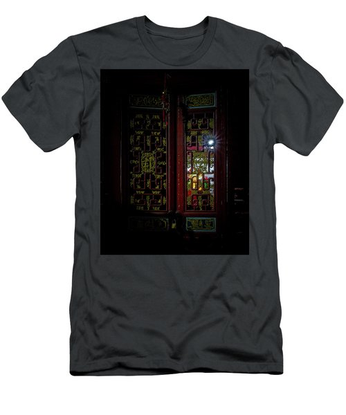 Temple Doorway On Old West Street Men's T-Shirt (Athletic Fit)