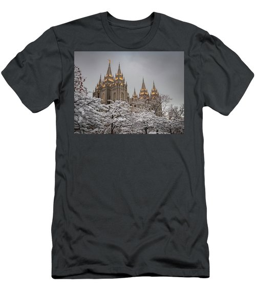 Temple In The Snow Men's T-Shirt (Athletic Fit)