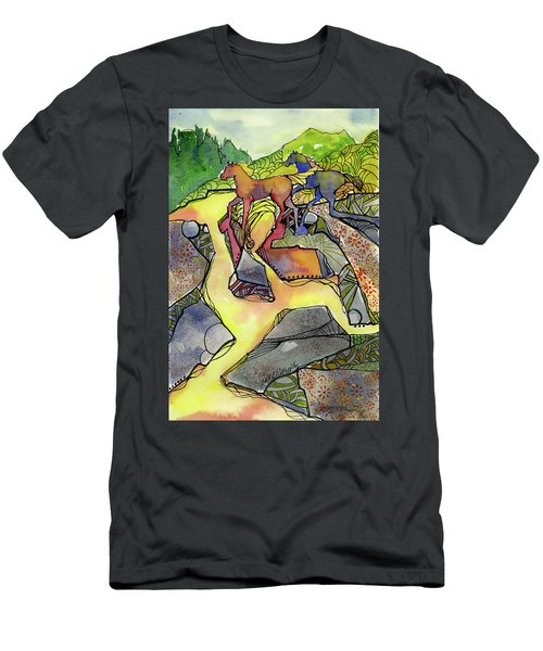 Tevis Ponies Men's T-Shirt (Athletic Fit)
