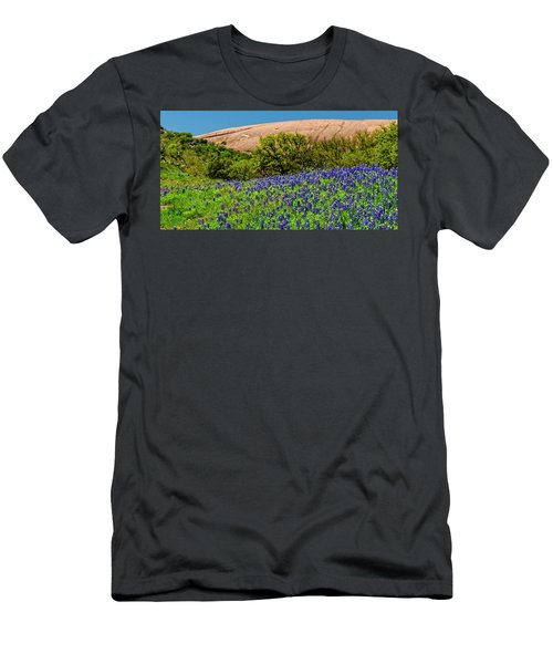 Texas Bluebonnets And Enchanted Rock 2016 Men's T-Shirt (Athletic Fit)