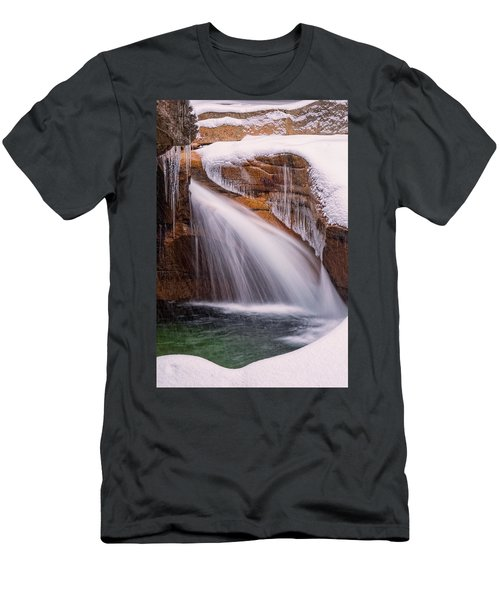 The Basin, Close Up In A Winter Storm Men's T-Shirt (Athletic Fit)