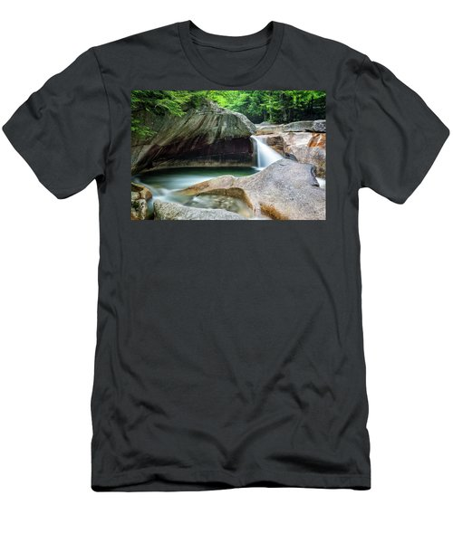 Men's T-Shirt (Athletic Fit) featuring the photograph The Basin, Springtime Nh by Michael Hubley