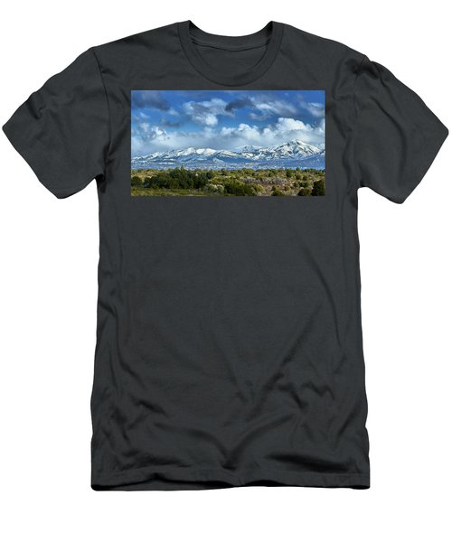 The City Of Bariloche And Landscape Of Snowy Mountains In The Argentine Patagonia Men's T-Shirt (Athletic Fit)
