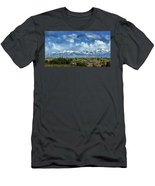 The City Of Bariloche Surrounded By Mountains Men's T-Shirt (Athletic Fit)