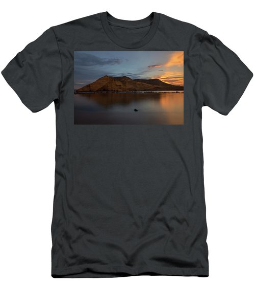 The Closed Cove In Aguilas At Sunset, Murcia Men's T-Shirt (Athletic Fit)