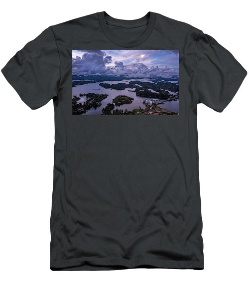 Men's T-Shirt (Athletic Fit) featuring the photograph The Clouds At Penol by Francisco Gomez