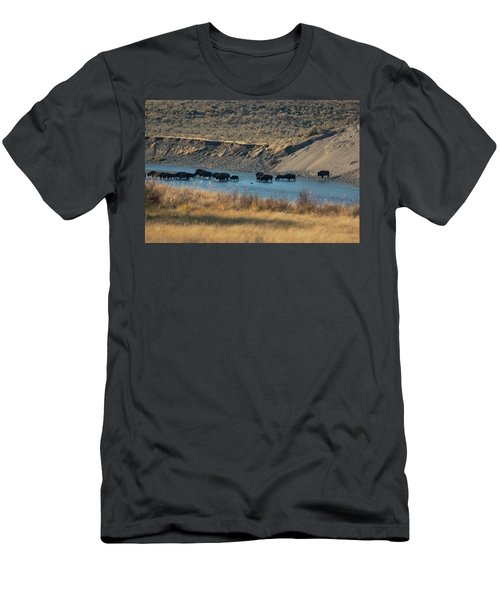 Men's T-Shirt (Athletic Fit) featuring the photograph The Crossing by Pete Federico
