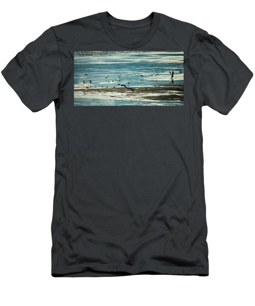 Men's T-Shirt (Athletic Fit) featuring the photograph The Eagles Are Coming by Jeff Phillippi