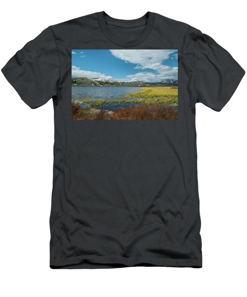 Men's T-Shirt (Athletic Fit) featuring the photograph The Gallitin Mountain Range  by Matthew Irvin