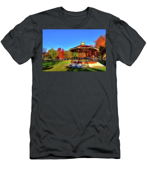 Men's T-Shirt (Athletic Fit) featuring the photograph The Gazebo At Reaney Park by David Patterson