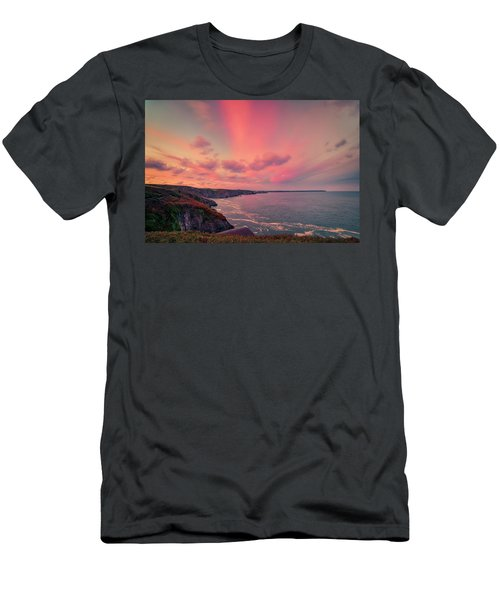 The Lizard Point Sunset Men's T-Shirt (Athletic Fit)