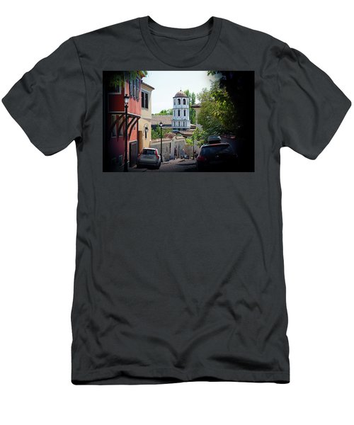 Men's T-Shirt (Athletic Fit) featuring the photograph The Old Town by Milena Ilieva