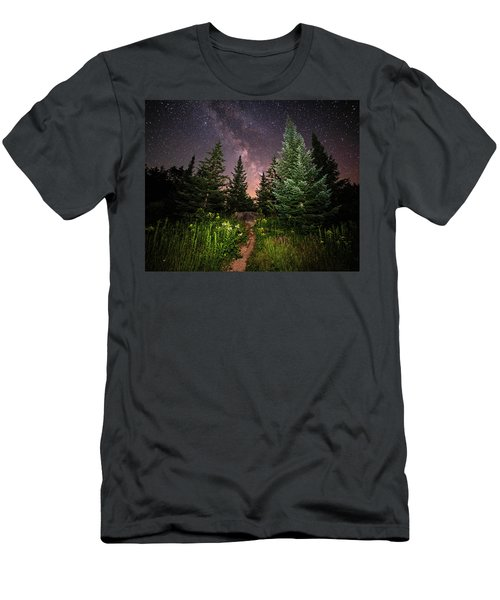 The Path To The Milky Way In Albany New Hampshire Men's T-Shirt (Athletic Fit)