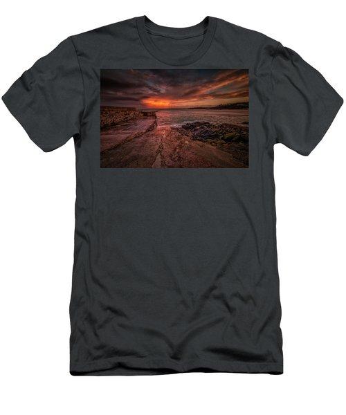 The Pier Sunset Men's T-Shirt (Athletic Fit)