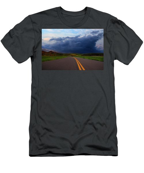 Men's T-Shirt (Athletic Fit) featuring the photograph The Road by John Rodrigues