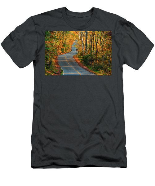 Men's T-Shirt (Athletic Fit) featuring the photograph The Road Up Mount Greylock by Raymond Salani III