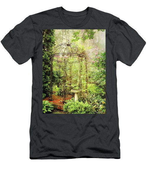 Men's T-Shirt (Athletic Fit) featuring the digital art The Secret Garden by Trina Ansel