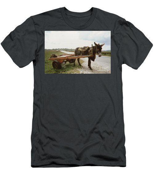 Men's T-Shirt (Athletic Fit) featuring the painting The Turf Donkey by Val Byrne