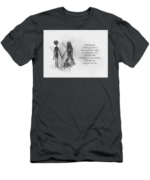 The Wedding Vows Black And White Men's T-Shirt (Athletic Fit)