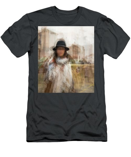 Men's T-Shirt (Athletic Fit) featuring the photograph The Woman In The Black Hat by Alex Lapidus