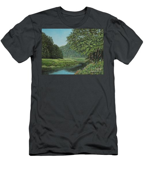 The Wye River Of Wales Men's T-Shirt (Athletic Fit)