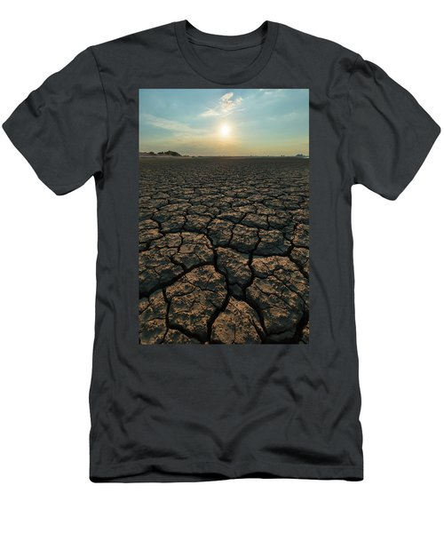 Men's T-Shirt (Athletic Fit) featuring the photograph Thirsty Ground by Davor Zerjav
