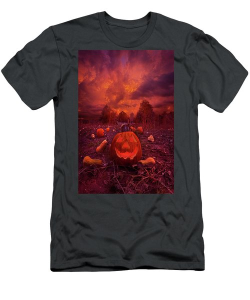 Men's T-Shirt (Athletic Fit) featuring the photograph This Is Halloween by Phil Koch