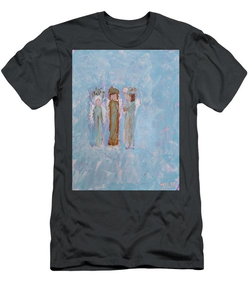 Three Friendly Angels Men's T-Shirt (Athletic Fit)