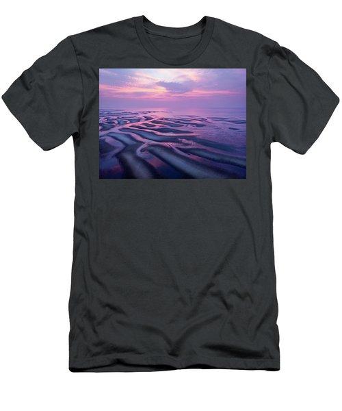 Tidal Flats Sunset Men's T-Shirt (Athletic Fit)