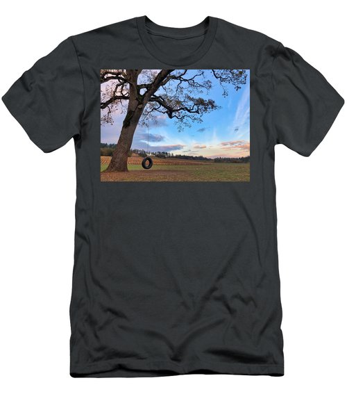 Tire Swing Tree Men's T-Shirt (Athletic Fit)