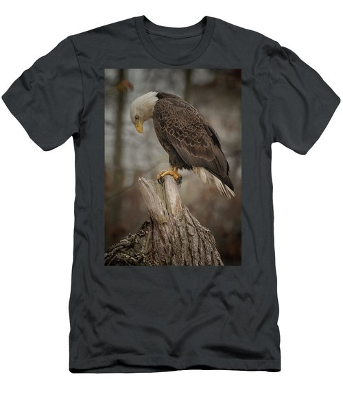 Tired Eagle Dad  Men's T-Shirt (Athletic Fit)